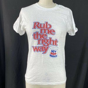 Vintage 70s Icy Hot T Shirt, Rub Me The Right Way